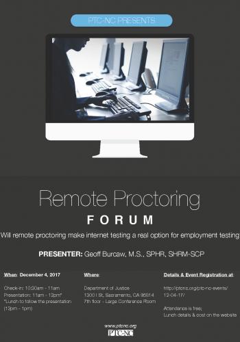 PTCNC 2017 December event - Remote Proctoring